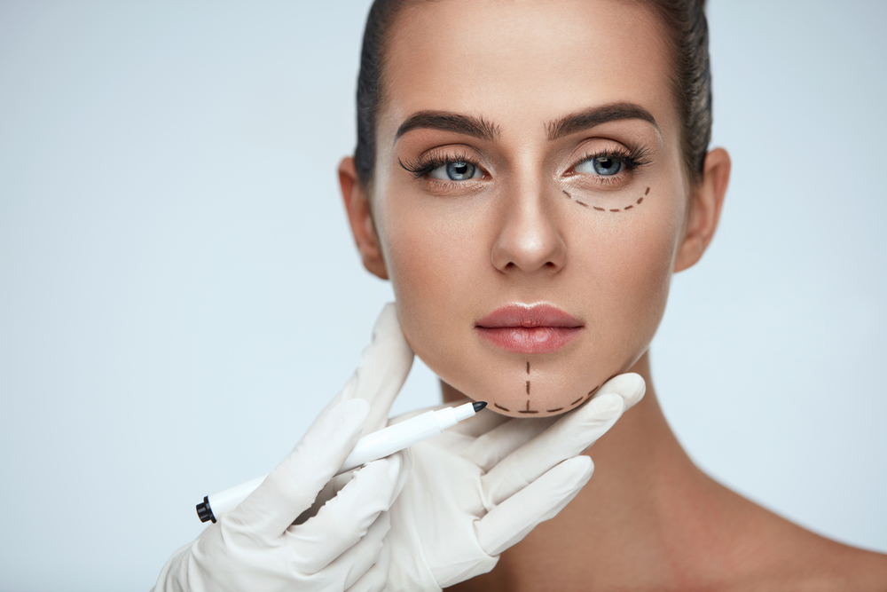 woman about to undergo cosmetic surgery